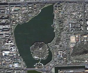 Vue satellilte de Beihai Park