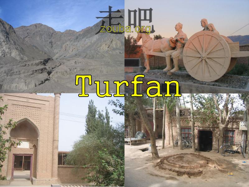 Image centrale pour Turfan dans la province de Xinjiang
